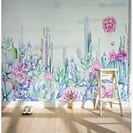 billige Tapet-bakgrunns / Veggmaleri Lerret Tapetsering - selvklebende nødvendig Maleri / Blomstret / 3D