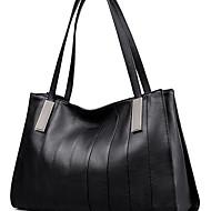 tanie Torby na ramię-torebki damskie skórzana torba na ramię nappa / solid black