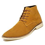 cheap Men's Boots-Men's Suede Fall Comfort Boots Black / Brown / Blue