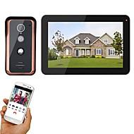 billige Dørtelefonssystem med video-MOUNTAINONE SY908FKA11 Med ledning Fotografert / Opptak 9 tommers Håndfri 1024*600 pixel En Til En Video Dørtelefon