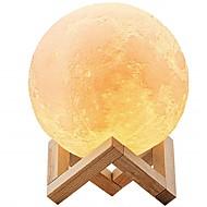 billige Lamper-1set 12cm måne 3d nattlys dimbar berøringssensor usb oppladbar med usb kabel dekorasjon for hjemmet
