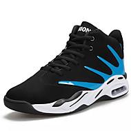baratos Sapatos Masculinos-Homens Couro Sintético Outono Conforto Tênis Basquete Estampa Colorida Branco / Preto / Preto / Vermelho / Black / azul
