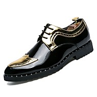 baratos Sapatos Masculinos-Homens Couro Sintético Outono Conforto Oxfords Dourado / Prateado