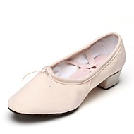 billige Ballettsko-Dame Ballettsko Lerret Flate Tvinning Flat hæl Kan spesialtilpasses Dansesko Rosa