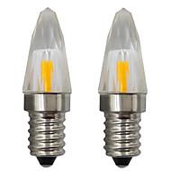 billige Stearinlyslamper med LED-2pcs 3 W 150-200 lm E14 LED-lysestakepærer 1 LED perler COB Dekorativ Varm hvit / Kjølig hvit 220-240 V