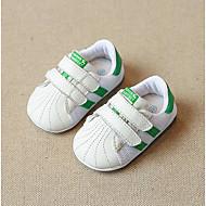 baratos Sapatos de Menina-Para Meninas Sapatos Pele Primavera & Outono Conforto Tênis Caminhada Colchete para Bébé Preto / Verde / Rosa Claro