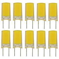 billige Bi-pin lamper med LED-10pcs 2.5 W 180 lm G8 LED-lamper med G-sokkel T 1 LED perler COB Nytt Design Varm hvit / Kjølig hvit 220-240 V