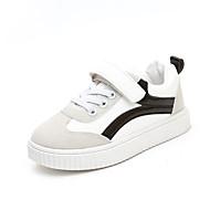 baratos Sapatos de Menino-Para Meninos Sapatos Couro Ecológico Outono & inverno Conforto Tênis Caminhada Presilha para Infantil Preto / Vermelho