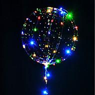 3m 30μέτρα φωτεινή σειρά φωτεινή οδήγησε μπαλόνια διαφανή μπαλόνια ηλίου ευτυχισμένος διακοσμήσεις πάρτι γενεθλίων παιδιά γάμος οδήγησε μπαλόνια Χριστούγεννα νέο έτος