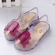 baratos Sapatos de Menina-Para Meninas Sapatos PVC Verão Plástico Sandálias Velcro para Bébé Roxo / Vermelho / Azul