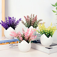billige Kunstige blomster-Kunstige blomster 1 Gren Klassisk / Singel Stilfull Lyseblå Bordblomst