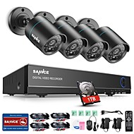 cheap DVR Kits-SANNCE® 4CH 4PCS 720P Security System 1TB HD AHD DVR HDMI IR Night Vision Outdoor CCTV Camera Home Surveillance Kits