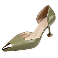 baratos Sapatos Femininos-Mulheres Stiletto Couro Ecológico Primavera Verão Saltos Salto Sabrina Ponteira Preto / Verde / Rosa claro