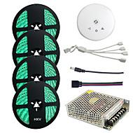 Χαμηλού Κόστους Φωτιστικά Λωρίδες LED-HKV 4x5M Σετ Φώτων / Φωτολωρίδες RGB 300 LEDs 5050 SMD RGB Αδιάβροχη / Μπορεί να κοπεί / Συνδέσιμο 100-240 V