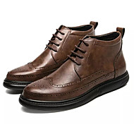 baratos Sapatos Masculinos-Homens Coturnos Microfibra Inverno Botas Botas Curtas / Ankle Preto / Cinzento / Marron