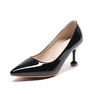 baratos Sapatos Femininos-Mulheres Stiletto Couro Envernizado Verão Saltos Salto Agulha Preto / Vermelho / Rosa claro