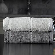 baratos Toalha de Banho-Qualidade superior Toalha de Banho, Geométrica Poliéster / Algodão Banheiro 2 pcs