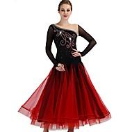 Standardní tance Šaty Dámské Výkon Spandex / Organza Sklady / Křišťály / Bižuterie Dlouhý rukáv Šaty