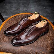baratos Sapatos de Tamanho Pequeno-Homens Bullock Tênis Pele Primavera / Outono Formais Oxfords Café / Marron / Vinho / Casamento / Festas & Noite