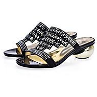 olcso -Női Kényelmes cipők Szintetikus Tavasz Szandálok Heterotípusos sarok Fekete / Mandula