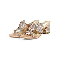 baratos Sapatos Femininos-Mulheres Sapatos Confortáveis Couro Ecológico Verão Sandálias Salto Robusto Fúcsia / Amêndoa