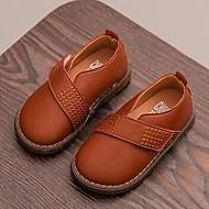 baratos Sapatos de Menina-Para Meninas Sapatos Couro Ecológico Outono & inverno Conforto Rasos Caminhada para Infantil Branco / Preto / Marron