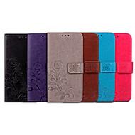 Coque Pour Apple Coque iPhone 5 Porte Carte / Clapet Coque Intégrale Couleur Pleine / Mandala Flexible faux cuir pour iPhone SE / 5s / iPhone 5