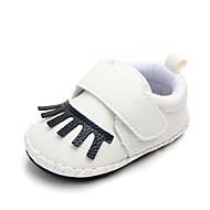 baratos Sapatos de Menino-Para Meninos Sapatos Couro Ecológico Primavera & Outono Primeiros Passos Tênis Velcro para Bebê Azul Escuro / Cinzento / Marron / Estampa Colorida