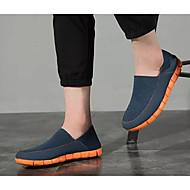 tanie Obuwie męskie-Męskie Komfortowe buty Płótno Wiosna Mokasyny i buty wsuwane Pomarańczowy / Czarny i biały / Biały / Niebieski