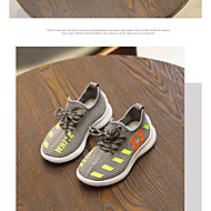 baratos Sapatos de Menina-Para Meninas Sapatos Com Transparência Primavera & Outono Conforto Tênis Corrida / Tênisq Cadarço para Infantil Preto / Cinzento / Vermelho / Estampa Colorida
