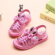 baratos Sapatos de Menina-Para Meninas Sapatos Courino Verão Conforto Sandálias para Branco / Pêssego / Vermelho Claro