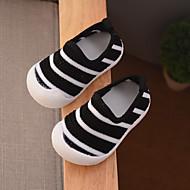 baratos Sapatos de Menina-Para Meninas Sapatos Com Transparência Primavera & Outono Primeiros Passos Mocassins e Slip-Ons para Bebê Preto / Cinzento / Roxo / Estampa Colorida