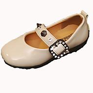 baratos Sapatos de Menina-Para Meninas Sapatos Couro Ecológico Outono & inverno Sapatos para Daminhas de Honra Rasos Caminhada Presilha para Infantil Preto / Bege / Camel