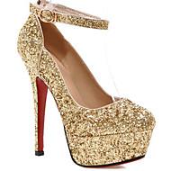cheap -Women's Shoes Synthetics Spring &  Fall Comfort / Basic Pump Heels Stiletto Heel Gold / Black / Silver
