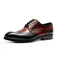baratos Sapatos de Tamanho Pequeno-Homens Bullock Tênis Pele Primavera / Outono Formais Oxfords Cinzento / Vermelho / Casamento / Festas & Noite