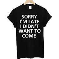 Rund hals Herre - Bogstaver Basale T-shirt / Kortærmet