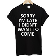 Heren Standaard T-shirt Letter Ronde hals Wit L / Korte mouw