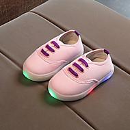 baratos Sapatos de Menino-Para Meninos / Para Meninas Sapatos Lona Primavera & Outono Conforto / Tênis com LED Oxfords Cadarço / LED para Infantil / Bébé Preto / Azul / Rosa claro