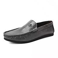 baratos Sapatos Masculinos-Homens Couro Sintético / Couro Ecológico Outono Mocassim Mocassins e Slip-Ons Preto / Cinzento / Khaki