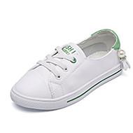 baratos Sapatos de Menino-Para Meninos / Para Meninas Sapatos Pele Primavera & Outono Conforto Tênis para Preto / Verde / Rosa claro