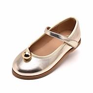 baratos Sapatos de Menina-Para Meninas Sapatos Couro Ecológico Primavera & Outono Conforto / Sapatos para Daminhas de Honra Rasos para Preto / Champanhe