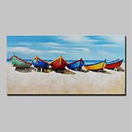 billige Nyheter-Hang malte oljemaleri Håndmalte - Landskap / Still Life Moderne Inkluder indre ramme / Stretched Canvas