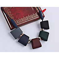 Women's Braided Statement Necklace Necklace Creative Statement Ladies Geometric Hyperbole Cool Rainbow 45 cm Necklace Jewelry 1pc For Street Club