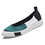 baratos Sapatos Femininos-Mulheres Sapatos Couro Ecológico Verão Conforto Rasos Sem Salto Ponta Redonda Vermelho / Verde