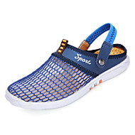 baratos Sapatos de Tamanho Pequeno-Homens Com Transparência Verão Conforto Tamancos e Mules Bege / Amarelo / Azul