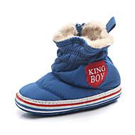 baratos Sapatos de Menino-Para Meninos Sapatos Algodão Outono & inverno Primeiros Passos Botas para Bebê Preto / Cinzento / Azul / Estampa Colorida