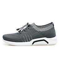 baratos Sapatos Masculinos-Homens Sapatos Confortáveis Com Transparência Primavera Tênis Caminhada Cinzento / Branco / Preto / Preto / Vermelho