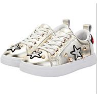 baratos Sapatos de Menina-Para Meninas Sapatos Couro Sintético Primavera & Outono Conforto Tênis para Dourado / Branco / Rosa claro