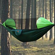 Camping-hængekøje med myggenet Udendørs Regn-sikker, Åndbarhed Nylon for Vandring / Camping - 2 personer Orange / Mørkeblå / Mørkegrøn