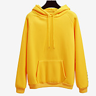Men's Basic Long Sleeve Hoodie - Solid Colored Hooded Fuchsia L / Fall